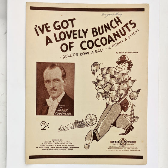 Lovely bunch of cocoanuts  - Sheet Music