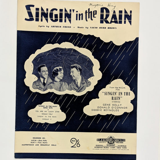 Singin in the rain  - Sheet Music