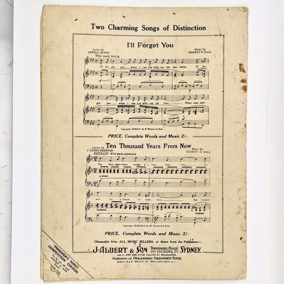 Prisoner's song  - Sheet Music
