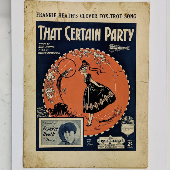 That certain party  - Sheet Music