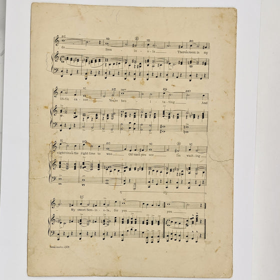 Seminola  - Sheet Music
