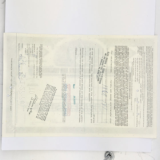 International Telephone - Share Certificate