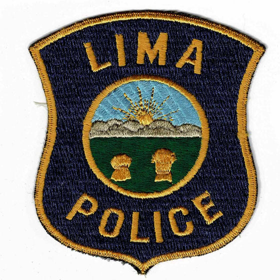 Lima Police - Authentic Original Cloth Police Badge