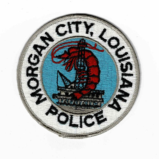 Morgan City Police - Authentic Original Cloth Police Badge