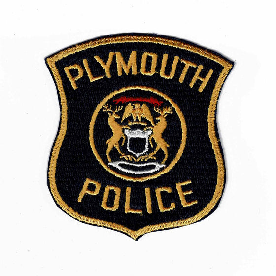 Plymouth Police - Authentic Original Cloth Police Badge