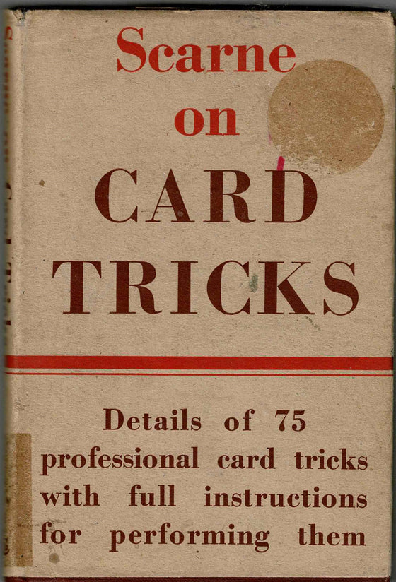 Scarne on Card Tricks - 1953 First Edition
