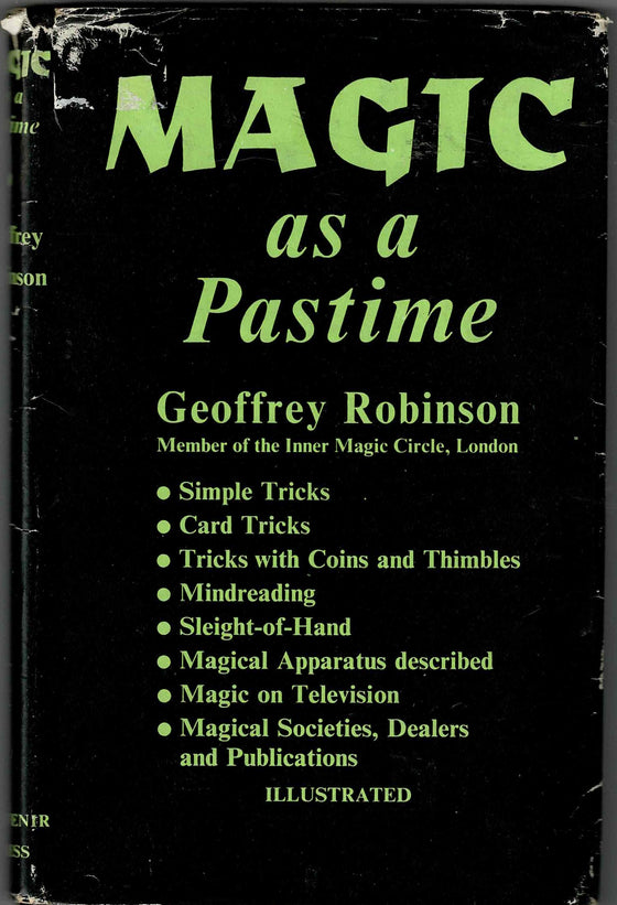 Magic as a Pastime - Geoffrey Robinson 1960 First Edition
