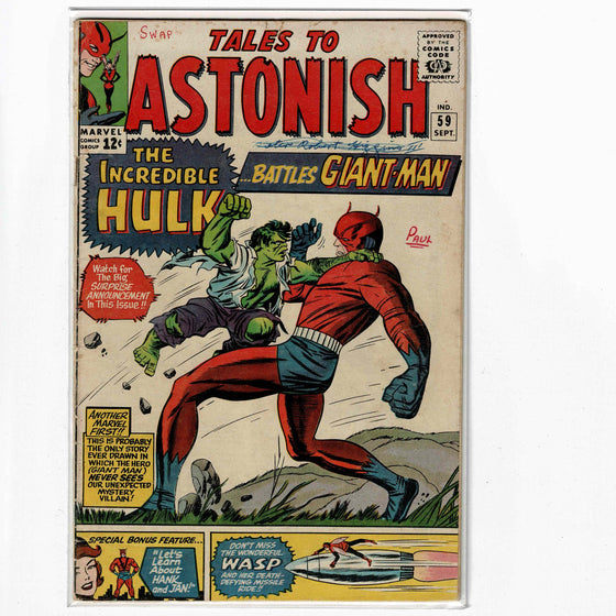 Tales to Astonish #59 Sep 1964 Comic Book