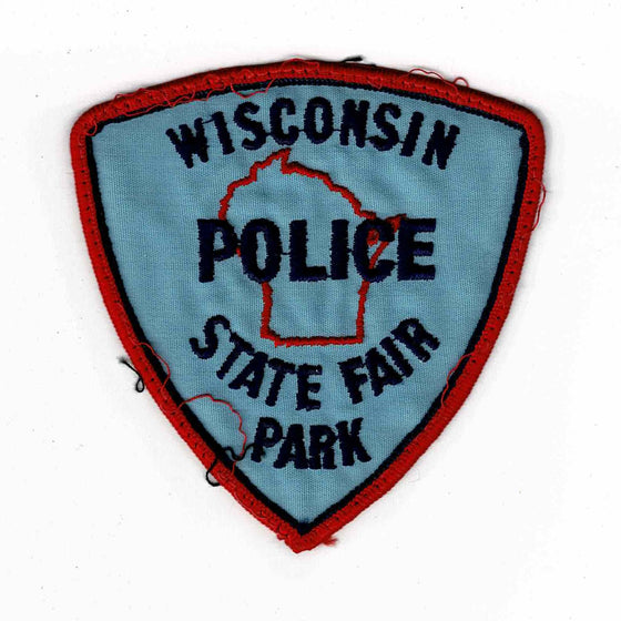 Wisconsin State Fair Park Police - Authentic Original Cloth Police Badge