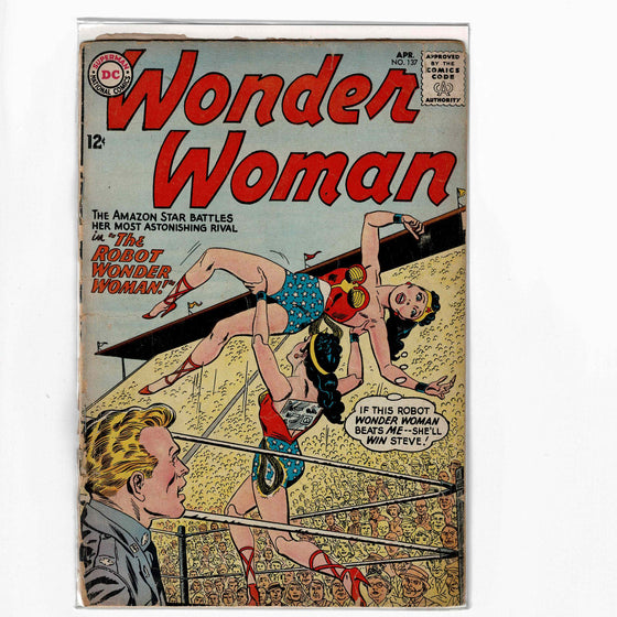 Wonder Woman #137 Apr 1963 Comic Book