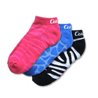 Curves Animal Print Socks - Pack of 3 Multicolor