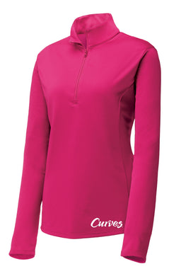 Curves Quarter Zip Pink
