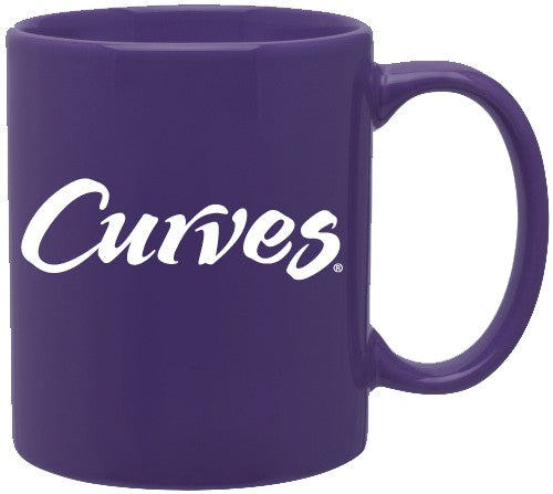 Curves Mug-Purple