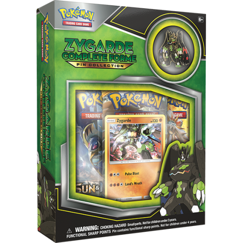 Pokémon - Sun & Moon: Zygarde Complete Forme Pin Collection (Factory Sealed)