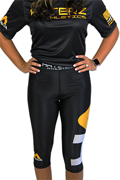 Women's Leggings HA Logo Black/Yellow