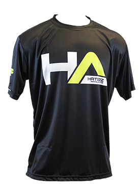 Full Sublimation Short Sleeve HA Logo Jersey (Black/Neon Yellow)