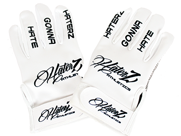 Haterz Batting Gloves (White)