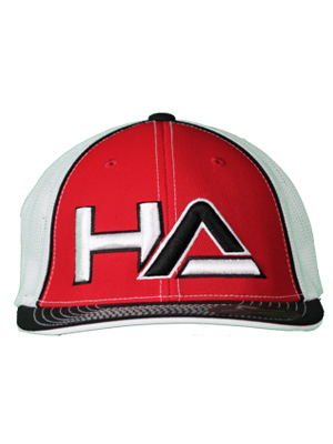 Haterz HA Logo Hat (Red, Black/White)