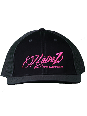 Classic Haterz Hat (Black, Charcoal/Pink)