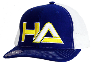 HaterZ HA Logo Snapback Hat (Blue/Gold)