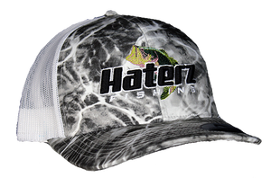 HaterZ Fishing Bass Hat Gray/Wht