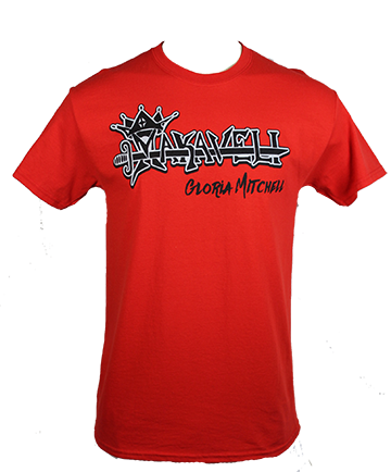 Makaveli Collection - Gloria Mitchell Signature  T-shirt - Red