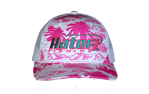 HaterZ Fishing Palm Tree Pink/Teal