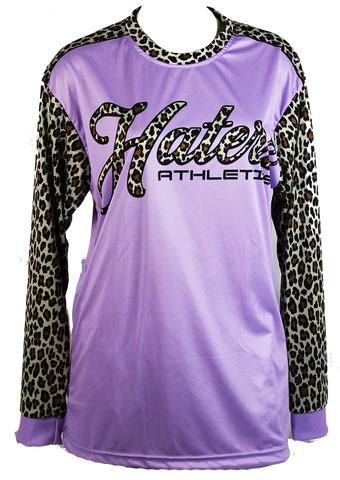 HaterZ Purple Cheetah long sleeve jersey