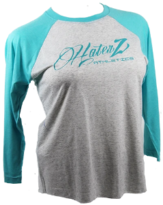 Haterz Script Logo on Baseball T-shirt