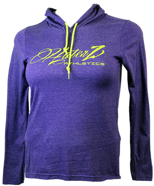 Haterz Cotton Heather Purple Hooded T-Shirt