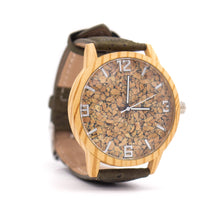 Load image into Gallery viewer, Cork watch shows green cork bracelet watch women and men's WA-121-BOX