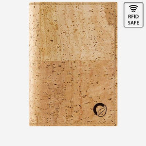 Porte-Passeport en liège pour Homme - WALLY - Light Brown - Portefeuille