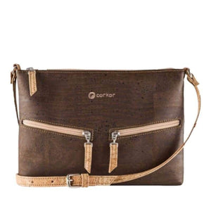 Sac à main | Crossbody en liège naturel - CORKY (4 modèles) - Marron - Sac à main Cross-Body