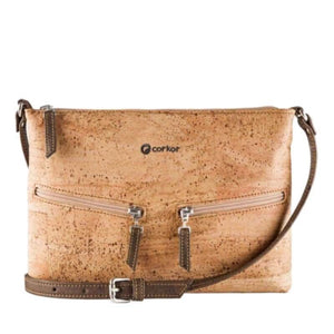 Sac à main | Crossbody en liège naturel - CORKY (4 modèles) - Marron clair - Sac à main Cross-Body