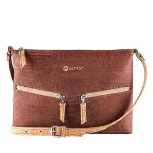 Sac à main | Crossbody en liège naturel - CORKY (4 modèles) - Rouge - Sac à main Cross-Body