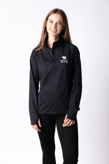 Girls BLACK Senior Class 1/4 zip Pullover with Logo