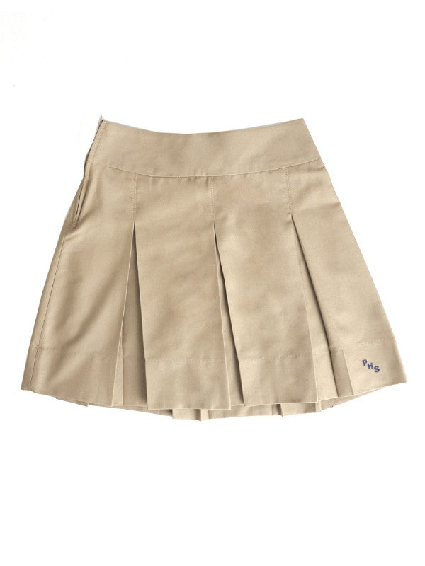 Khaki Girls Skirt with Pallotti School Logo