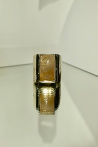 Ishmael's Ring. Rutilated Quartz and Sterling silver