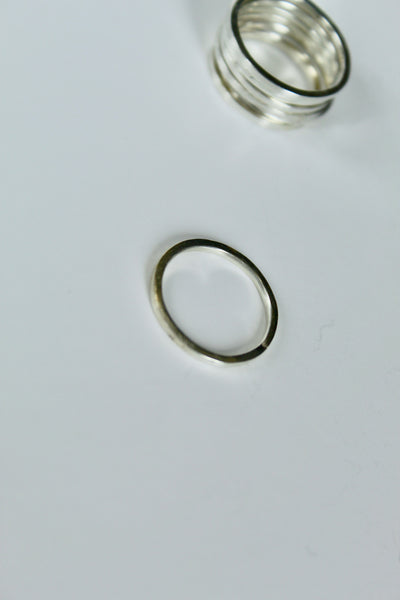 Thin Sterling Bands