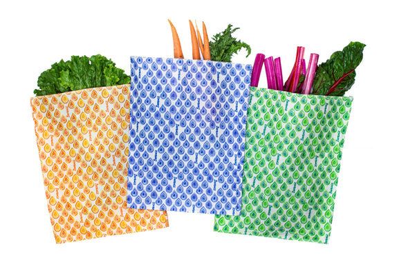 Large Bag 3 Pack - Reusable Beeswax Food Bags