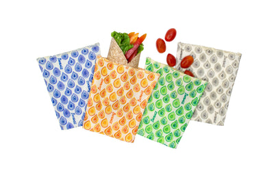 Medium Pack (Set of 4) - Beeswax Wrap Bags