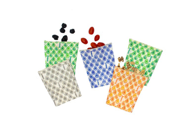Small Bag 5 Pack - Reusable Beeswax Food Bags