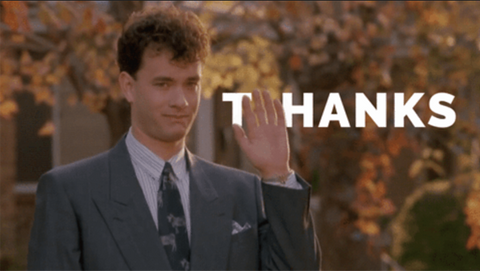 tom hanks says thanks