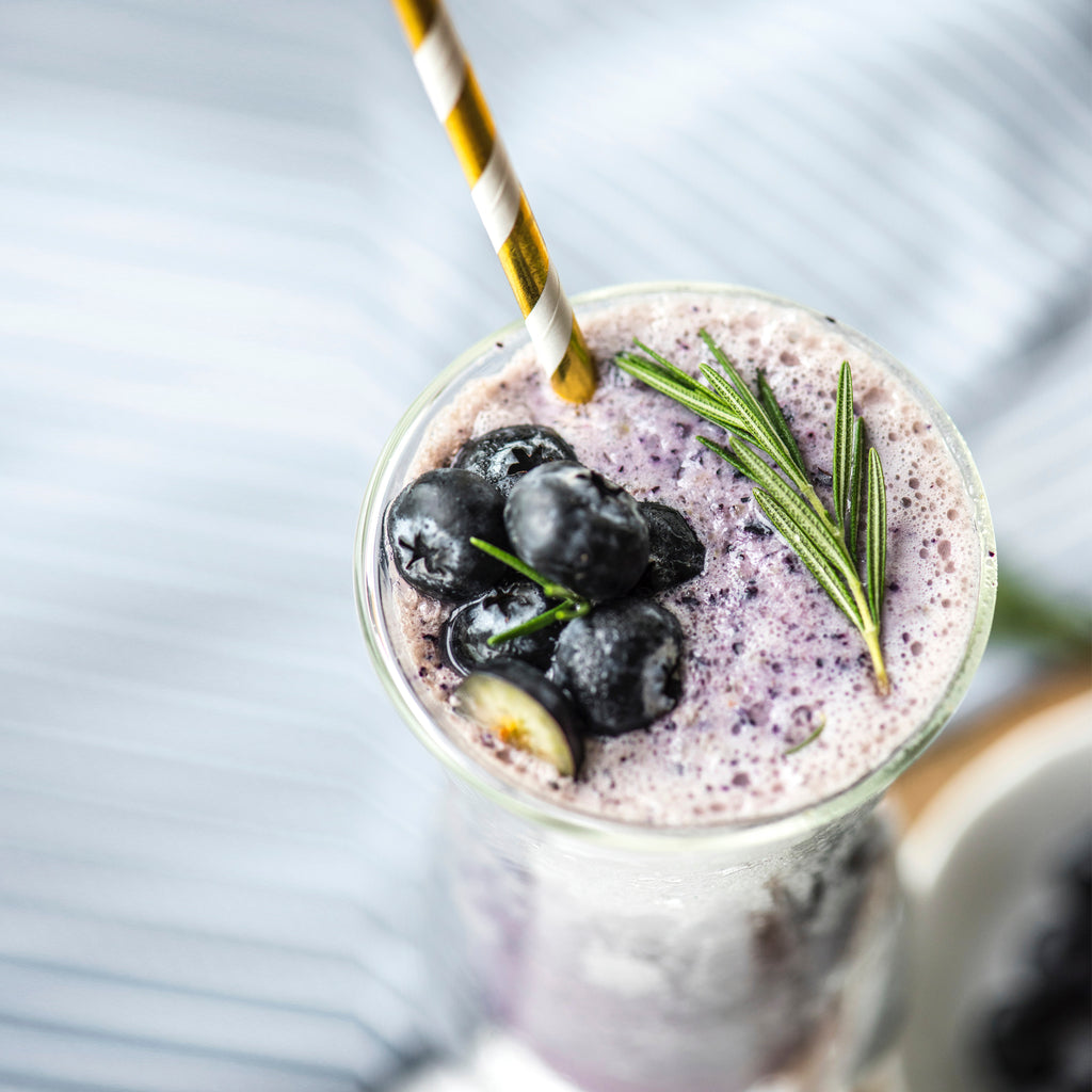 SMOOTHIE DE ARÁNDANOS CON BE COLLAGEN - FRESA.