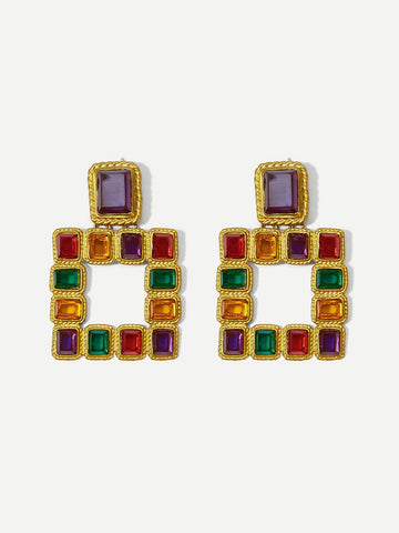 Arabian Square Drop Earrings - CHAZ