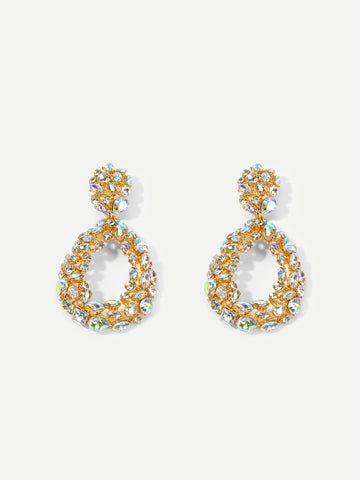 Zuri Rhinestone Waterdrop Earrings - CHAZ