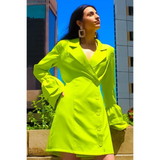 Limeade Blazer Dress