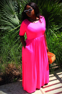 Hibiscus Maxi Dress - CHAZ