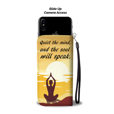 Meditation Wallet Phone Case - Quiet The Mind...