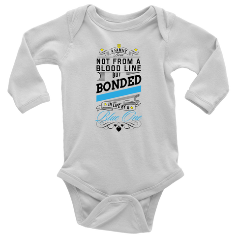 Image of Police Officer - Long Sleeve Baby Bodysuit
